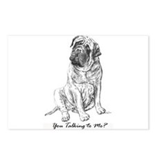 Mastiff You Talkin To Me? Postcards (Package of 8)