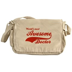 World's Most Awesome Doctor Messenger Bag