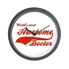 World's Most Awesome Doctor Wall Clock
