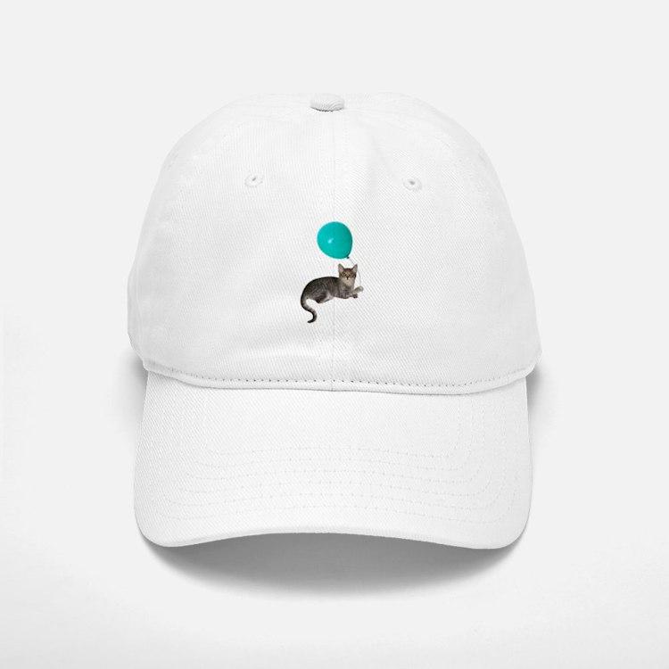 Cat with Ballon Baseball Baseball Cap