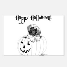 Happy Mastiff Halloween Postcards (Package of 8)