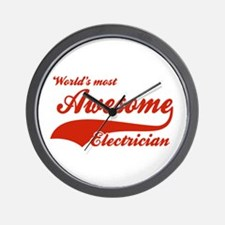 World's Most Awesome Electrician Wall Clock