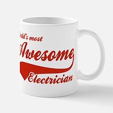 World's Most Awesome Electrician Mug