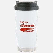 World's Most Awesome Electrician Travel Mug