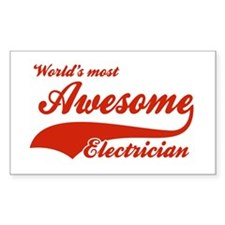 World's Most Awesome Electrician Decal