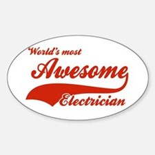 World's Most Awesome Electrician Sticker (Oval)