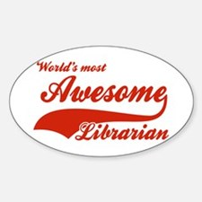 World's Most Awesome Librarian Decal