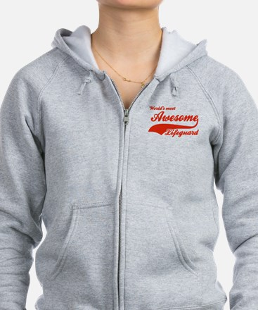 World's Most Awesome Life guard Zipped Hoody