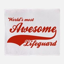 World's Most Awesome Life guard Throw Blanket
