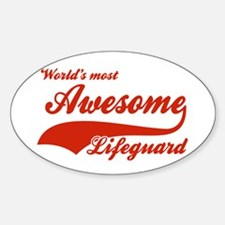 World's Most Awesome Life guard Decal