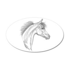 Yearling Horse 20x12 Oval Wall Decal