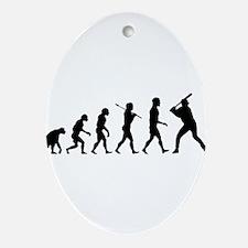 Baseball Evolution Ornament (Oval)