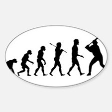 Baseball Evolution Sticker (Oval)