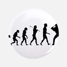 "Baseball Evolution 3.5"" Button"