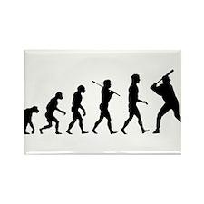 Baseball Evolution Rectangle Magnet