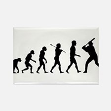 Baseball Evolution Rectangle Magnet