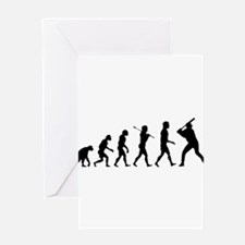 Baseball Evolution Greeting Card