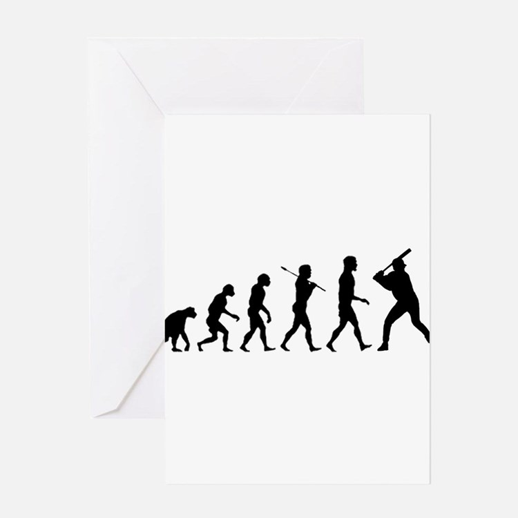 Baseball Evolution Greeting Card