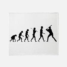 Baseball Evolution Throw Blanket