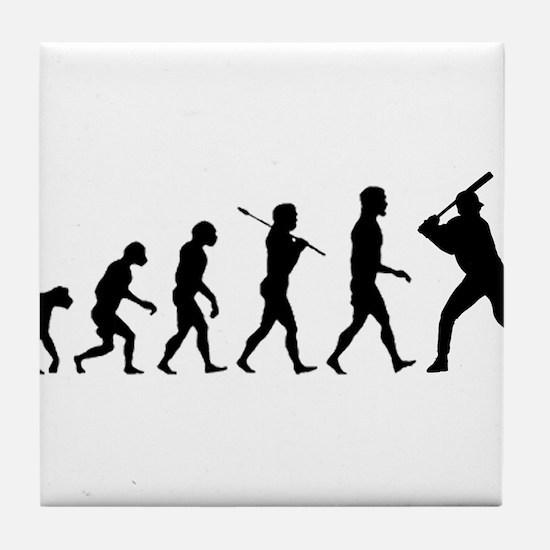 Baseball Evolution Tile Coaster