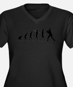 Baseball Evolution Women's Plus Size V-Neck Dark T