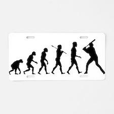 Baseball Evolution Aluminum License Plate