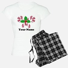 Personalized Candy Canes Pajamas