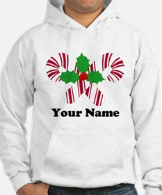 Personalized Candy Canes Hoodie