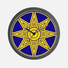 Ishtar Star Icon Wall Clock