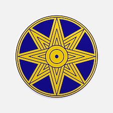 "Ishtar Star Icon 3.5"" Button"