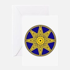 Ishtar Star Icon Greeting Card