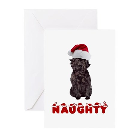 Naughty Affenpinscher Greeting Cards (Pk of 20)