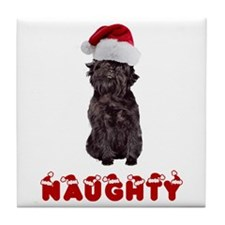 Naughty Affenpinscher Tile Coaster