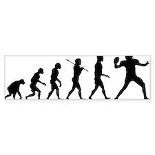 Quarterback Evolution of Foot Car Sticker