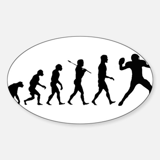 Quarterback Evolution of Foot Sticker (Oval)