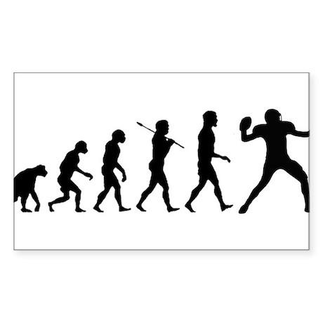Quarterback Evolution of Foot Sticker (Rectangle)