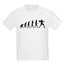 Quarterback Evolution of Foot T-Shirt