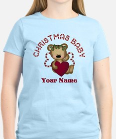 Personalized Christmas Baby T-Shirt