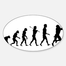 Evolution of Football Sticker (Oval)