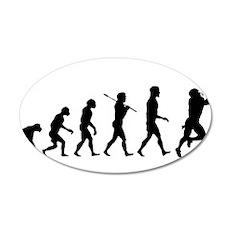 Evolution of Football 22x14 Oval Wall Peel