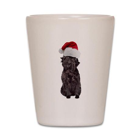 Affenpinscher Santa Shot Glass