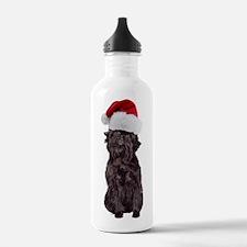 Affenpinscher Santa Water Bottle
