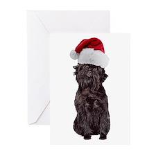 Affenpinscher Santa Greeting Cards (Pk of 10)