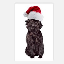 Affenpinscher Santa Postcards (Package of 8)