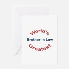 W Greatest Brother In Law Greeting Card