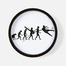 Viva La Evolucion De Futbol Wall Clock