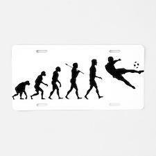 Viva La Evolucion De Futbol Aluminum License Plate