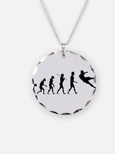 Viva La Evolucion De Futbol Necklace