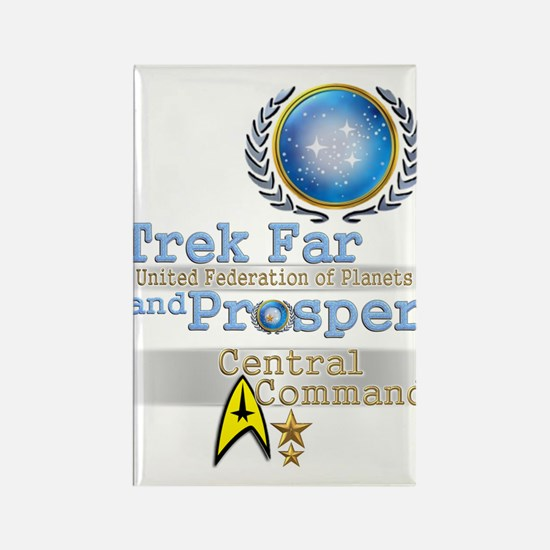 Trek Far and Prosper Rectangle Magnet