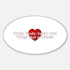 Things Sweet Sticker (Oval)